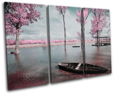 Tree Blossom Pink Sunset Seascape - 13-0477(00B)-TR32-LO